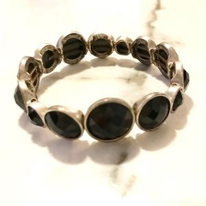 Jewelry - Silver and Black Bracelet